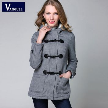 Winter Jacket Women Hooded Winter Coat Fashion Women Parka Horn Button Coats Abrigos Y Chaquetas Mujer Invierno