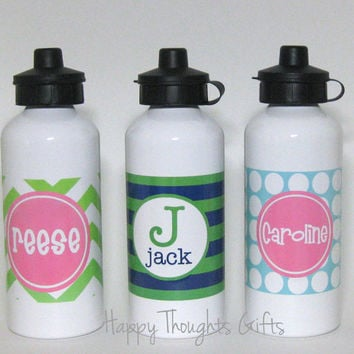 Personalized Water Bottle - Personalized Sports Bottle - Aluminum Bottle - Sports Bottle for Kids - Custom Sports Drink