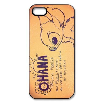Lilo And Stitch Means family behind forgotten iphone 4 4s 5 5s 5c 6 6s 6plus 6s plus Cell Phone Plastic Hard Case Cover TQI