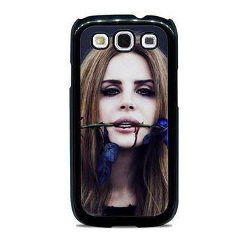 Lana Del Rey Rose On Her Lips Supreme Samsung Galaxy S3 Case