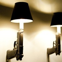 9mm Gun Sconces by ceramicryan on Etsy
