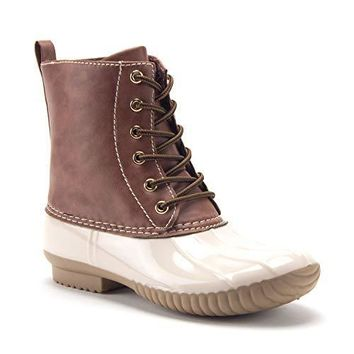 Women's Dylan Tall Lace Up Winter Snow Rain Fashion Duck Boots