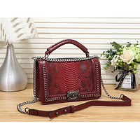 Fashion Leather Chain Satchel Shoulder Bag Handbag Crossbody