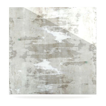 "CarolLynn Tice ""Effortless"" Neutral Gray Luxe Square Panel"