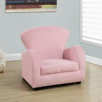 Juvenile Fuzzy Pink Fabric Chair