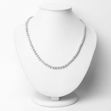 Platinum Ethically Mined Round Cut Natural Diamond Necklace