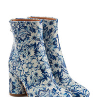 Printed Leather Ankle Boots - Maison Margiela | WOMEN | US STYLEBOP.COM
