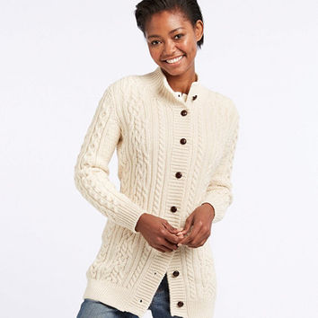 Women's 1912 Heritage Irish Fisherman Sweater, Long Cardigan | Free Shipping at L.L.Bean.