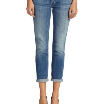 7 For All Mankind - Kimmie Crop Raw Hem Jeans