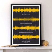 Crash Into Me Song Lyrics Poster