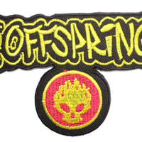 """THE OFFSPRING Skull Iron On Sew On Embroidered Patch 3.5""""/9cm"""