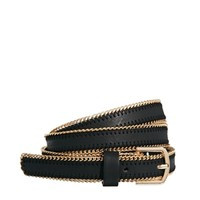 New Look Chain Edge Skinny Belt