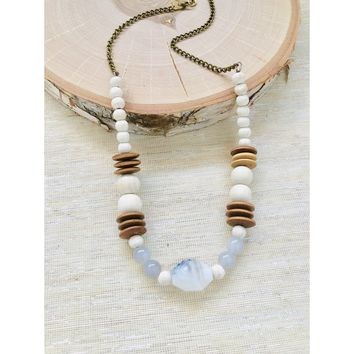 Gray Round Necklace