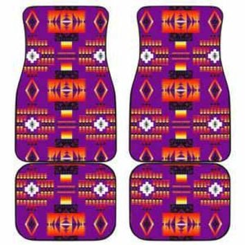 Seven Tribes Purple Set of 4 Car  Floor Mats