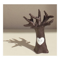 Wedding Cake Topper Tree with your Initials by byAnnoDomini