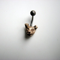 Belly button jewelry chihuahua dog