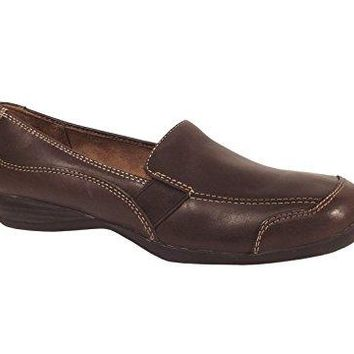 Natural Soul Camelia Brown Leather Shoe Size 9W NEW