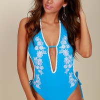 Sweet Breezes Crochet Swim Oxford Blue