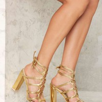 Nasty Gal First Place Lace-Up Heel