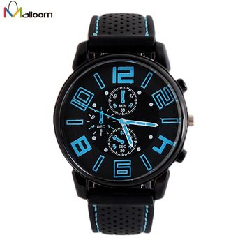 Stainless Steel Case Sport Watches For Mens Watches Top Brand Luxury Silicone Strap Military Watch Relogio Masculino De Luxo