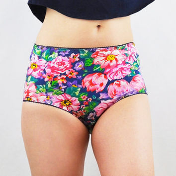 Floral panties with high waist by knickerocker on Etsy