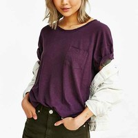 Feathers Linen Unisex Scoop Neck