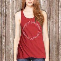 The Lord of the Rings Symbol Circle Women Tanktop - tri1 Tanktop For Women  / Custom - Tanktop / Women Tanktop