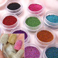 2012 hot sale new arrival 12 Color Caviar Manicures or Pedicures Nails Art