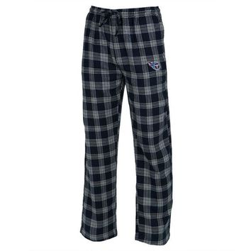 DCCK8UT Tennessee Titans Logo Plaid Lounge Pants