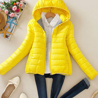 Parka Quilted Jacket with Hood