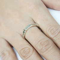 Octagon Silver Ring Sterling Ring .925 Silver Ring Personalized Ring