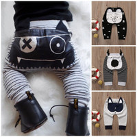 Cute Animal Newborn Baby Boy Girl Harem Pant 0-24M Infant Bebes 3D Long Pants Trouser Bottoms Toddler Kids Clothes