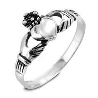 Sterling Silver Claddagh Ring | Overstock.com Shopping - The Best Deals on Sterling Silver Rings