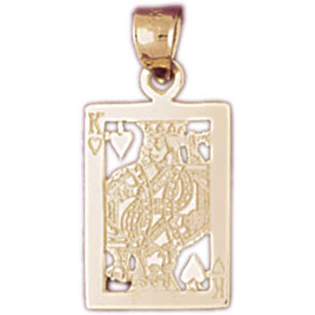 14K GOLD GAMBLING CHARM - PLAYING CARD #5440