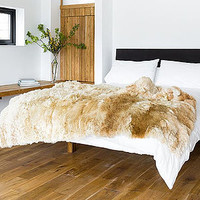 Alpaca Fur Throw Rug