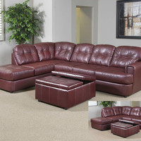Muscadine bonded leather sectional by Serta Upholstery