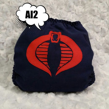Cobra Commander - GI Joe All In Two (AI2) Cloth Diaper - One-Size or Newborn, s, m, l