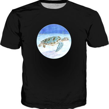 Sea turtle underwater Classic T-Shirt Black
