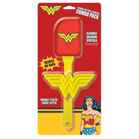 DC Wonder Woman Spatula and Cookie Cutter Kitchen Combo Pack