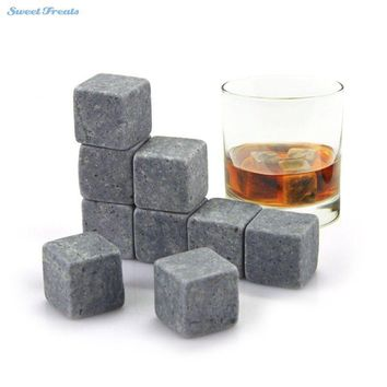 Whiskey Stones, Yummy Sam Reusable Ice Stone Chilling Rocks Cubes in Gift Box with Carrying Pouch, Set of 9 for Whiskey, Bourbon