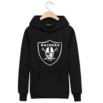 Hoodies Men Sweatshirts Winter Long Sleeve Black Thick Hoody Raiders Sweatshirt Men High Quality Brand Clothing