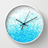 blue fantasy Wall Clock by Marianna Tankelevich