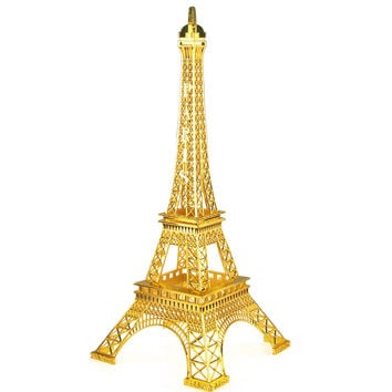 Paris France Eiffel Tower Stand, 20-inch, Gold