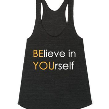 Be You-Unisex Athletic Tri Black Tank