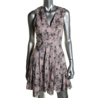 Robert Rodriguez Womens Above Knee Pleated Cocktail Dress