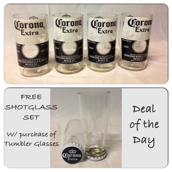 ONE DAY SALE! Beer Bottle Glasses/Groomsmen Gift/Beer Glass/Corona/Recycled Glass Bottles.