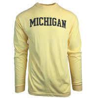 The Game University of Michigan Butter Yellow Long Sleeve Comfort Colors Tee