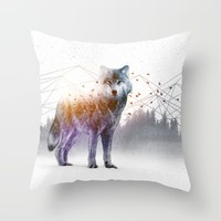 A Wilderness Within / Wolf Throw Pillow by Soaring Anchor Designs | Society6