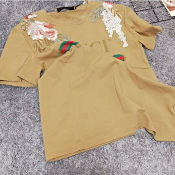 Gucci vineyard cotton, pure cotton, male and female t-shirts