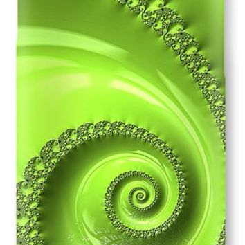 Fractal Spiral Greenery Color IPhone 7 Case